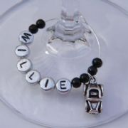 Car Personalised Wine Glass Charm